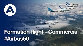 Airbus Commercial Aircraft formation flight: 50-year anniversary