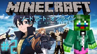 Minecraft Server: Sword Art Online RPG Server! - Part 2: Almost Died!