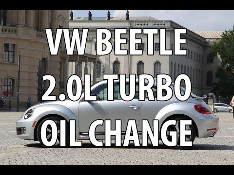 VW/Volkswagen Beetle 2.0T/1.8T Turbo TSI DIY Engine Oil Change / Reset Service Light