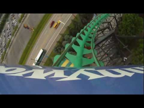 Phantom's Revenge Roller Coaster POV Kennywood Amusement Park Front Seat On-Ride
