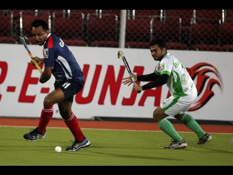 Highlights match 33 bhopal badshahs vs sher e punjab world series hockey wsh 2012