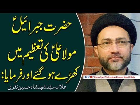Hazrat Jibrail a.s Mola Ali a.s ki Tazeem me kharey hogye aur farmaya by Allama Syed Shahenshah