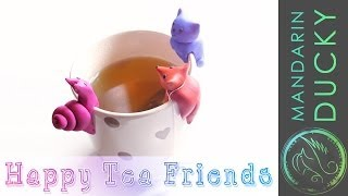 DIY TEA PARTY - Cute Polymer Clay FigurinesDIY project for your Tea cup ポリマークレイ ; 폴리머 클레이