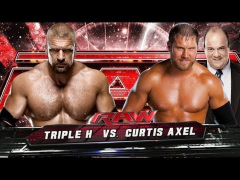 WWE Raw Triple H Vs Curtis Axel HD