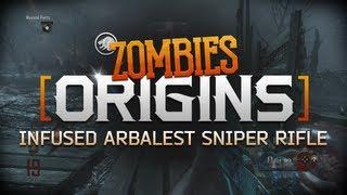 'ORIGINS' Infused Arbalest Sniper Rifle PaP'd Gameplay! (Black Ops 2 Zombies)