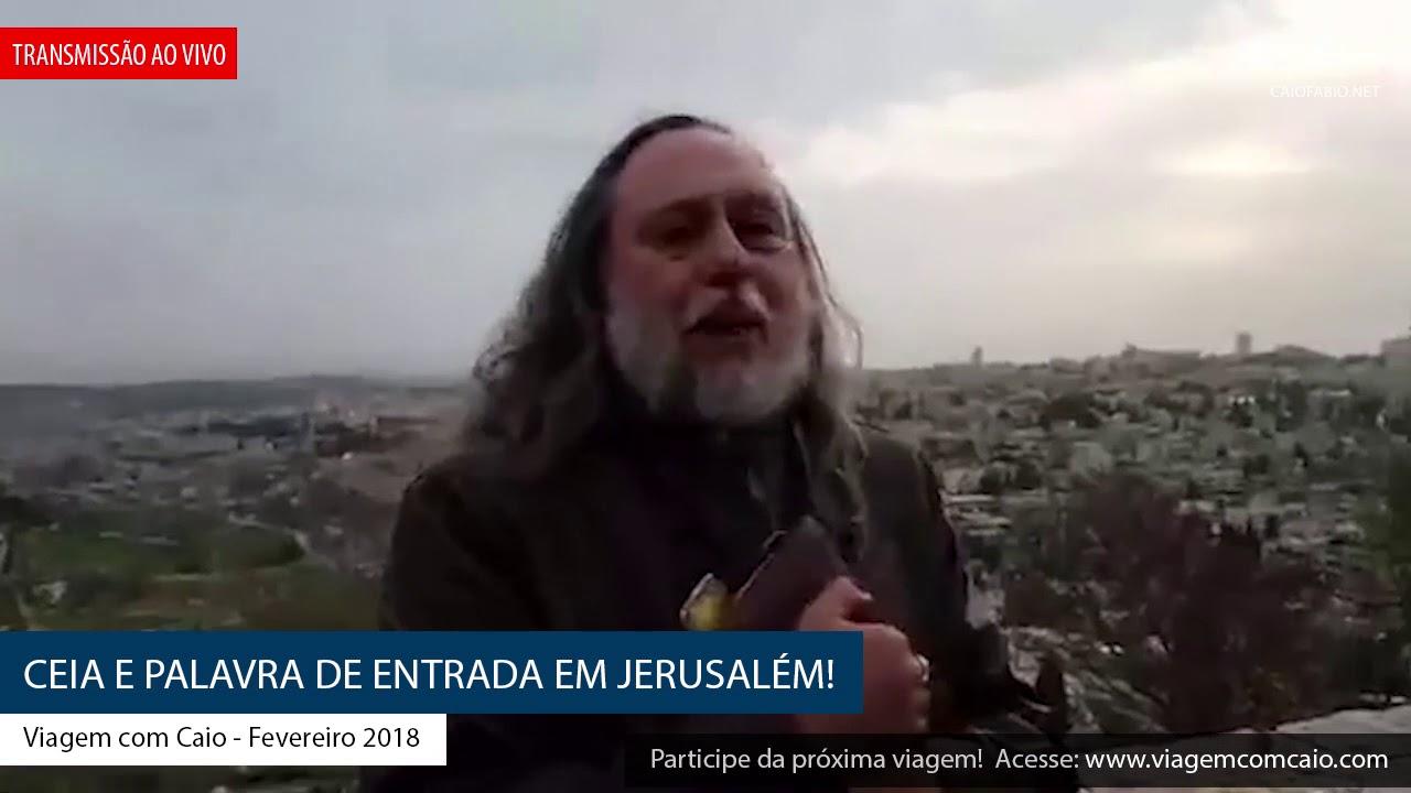 Ceia e palavra de entrada em Jerusalém mov