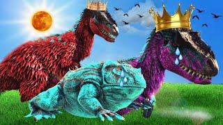 Á HISTÓRINHA DA PRICESA YUTYRANO E O SAPO FEIO! Ark Animals Evolved Dinosauro
