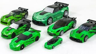 Transformers 4 AOE 5 TLK Green Color Corvette Stingray Autobot Crosshairs 7 Vehicles Car Robots Toys
