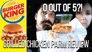 Burger King® | NEW Grilled Chicken Parmesan Sandwich Fast Food Review