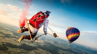 Skydivers Play on the ULTIMATE Mega Swing