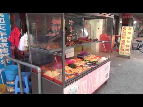 Путешествие в Китай #8: Улица, электроповозки, еда и другое