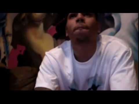 Chris Brown on Ustream doing the london accent and banana boat song