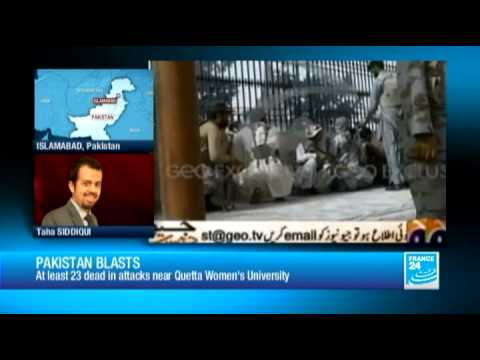 Pakistan: at least 23 dead in attacks near Quetta Women's University - 06/15/2013