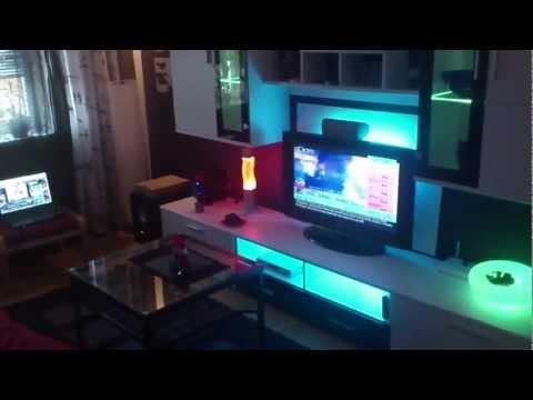 Ikea led dioder wohnzimmer indirekte beleuchtung living room wohnwand how to make do - Led beleuchtung wohnzimmer ...