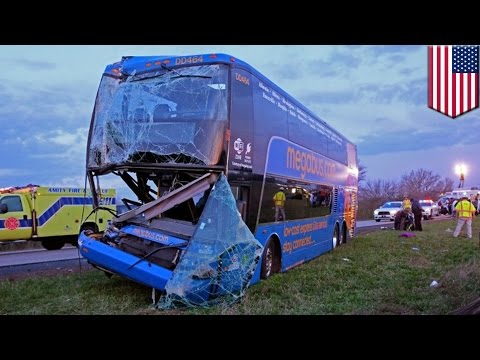 Nineteen people were injured when a Megabus traveling from Chicago crashed in central Indiana. Indiana State Police said the accident happened around 5:30 a.m. Monday in the southbound lanes...