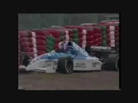 katayama crashes out of the japanese gp in 1995.