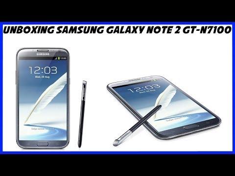 Распаковка Samsung Galaxy Note 2 GT-N7100 Unboxing