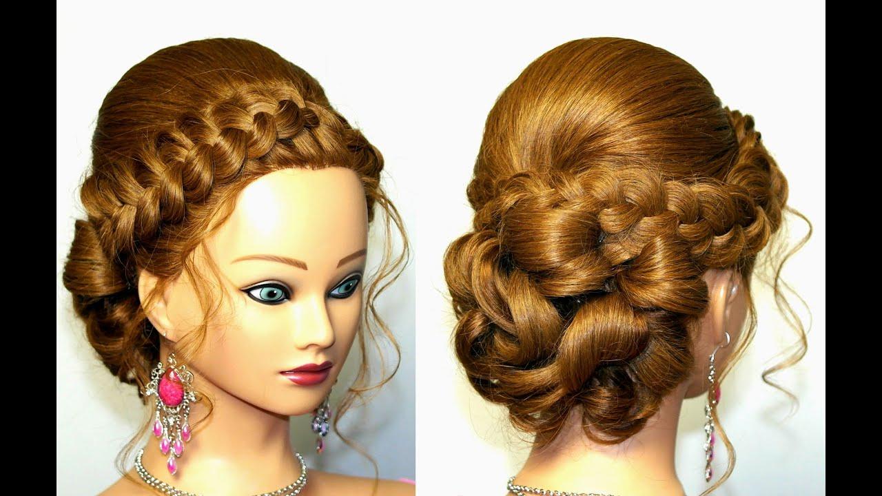 Прически для средних волос на свадьбу с фатой