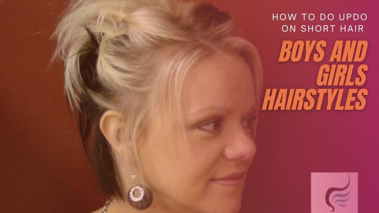 Updo for Short Hair - Girls Hairstyles - YouTube