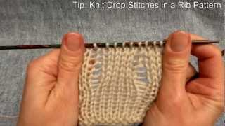 Fallmaschen stricken - Knitting Drop stitches - Stricken lernen - Learn how to knit