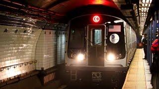 MTA New York City Subway : R179 C Train 3150-3157 In-Service Along The 8th Avenue Line