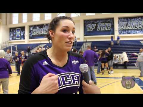 2013 Central Arkansas Volleyball: SLC Second Round vs. TX A&M-CC