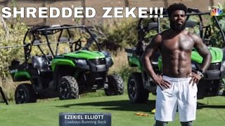 Ezekiel Elliott is apparently shedding some serious weight and more!