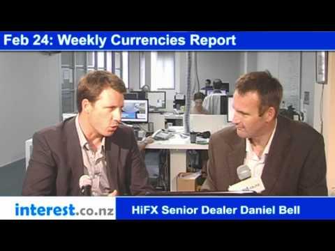 Weekly Currencies Report: HiFX Senior Dealer Daniel Bell (news with Bernard Hickey)