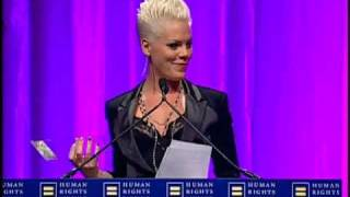 P!nk at the 2010 HRC National Dinner