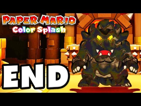 Paper Mario: Color Splash - Gameplay Walkthrough Part 38 - Final Boss! 100% Ending! (Nintendo Wii U)