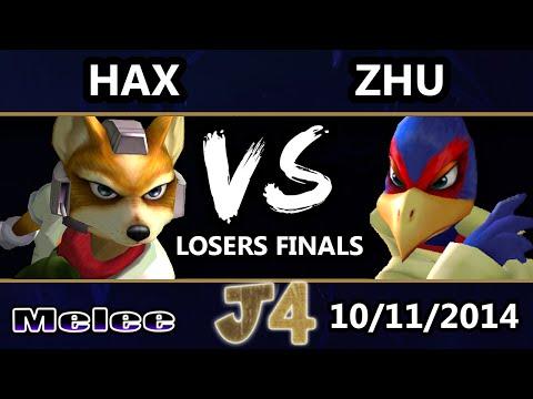 Justice 4 - Zhu (Falco) Vs. VGBC | Hax (Fox) SSBM Losers Finals - Smash Melee