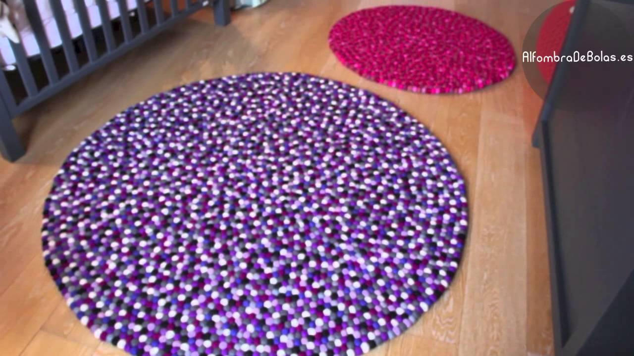 Alfombra de bolas youtube - Alfombras hechas a mano con lana ...