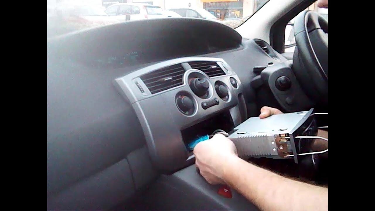 Radio Removal Renault Scenic 2003 2009 JustAudioTips