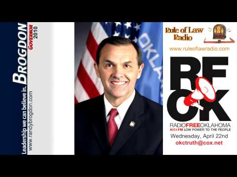 Randy Brogdon - 20090422 - Interview on Radio Free Oklahoma on Rule of Law Radio 2/3