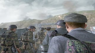 Call of Duty 2 - German Marines Scale the Cliffs of Dover (German D-Day)