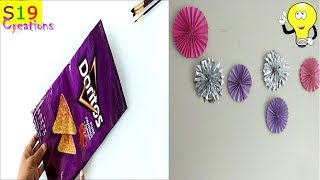 Easy party decor idea with chips wrapper   best out of waste wall decor   easy 5 minute decor ideas