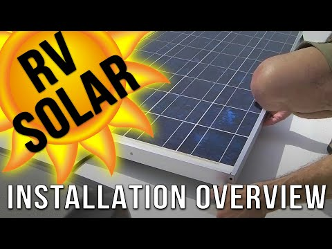 RV Solar Panel Installation Overview