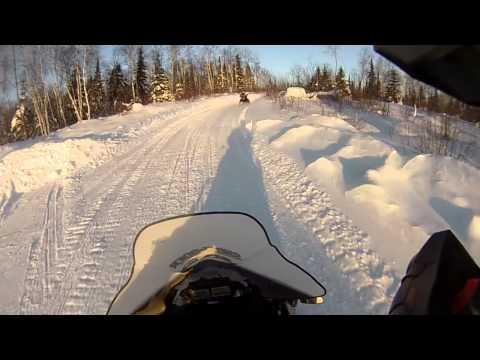 Trail riding in Abitibi Quebec
