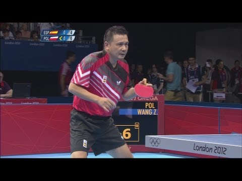 Table Tennis Men's Singles Second Round - Spain v Poland Full Replay - London 2012 Olympic Games