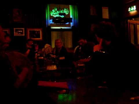 Devitt's Pub Dublin Ireland live irish traditional music uilleann pipe flute bodhran 07 25 2009