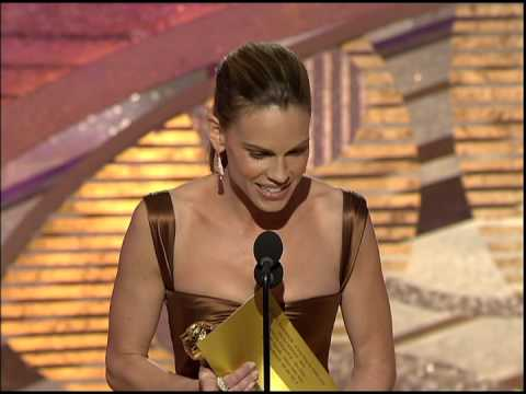 Golden Globes 2005 Hilary Swank Best Actress Motion Picture Drama