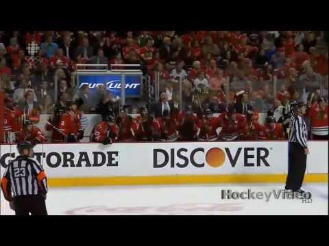 Andrew Shaw 3rd OT game winning goal. June 12, 2013