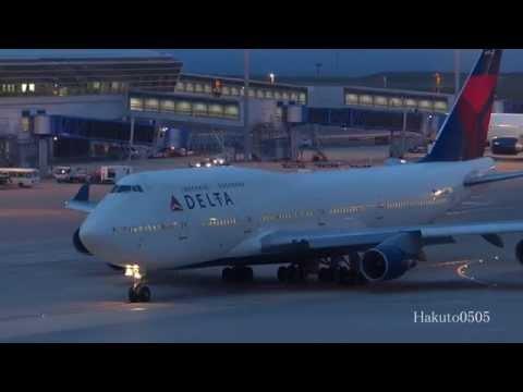 Delta Air Lines Boeing 747-451 N674US Take off at Nagoya