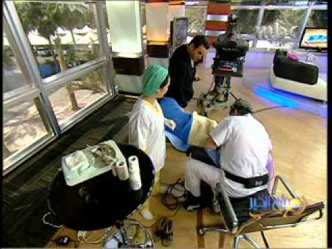 live sclerotherapy on mbc tv part 2 dr asad shamma s interview on mbc ...