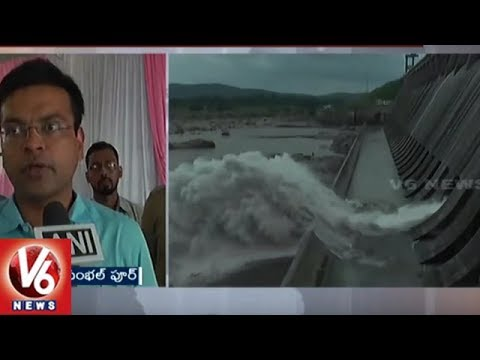 Hirakud Dam Authority Releases Flood Water To Mahanadi | Odisha | V6 News