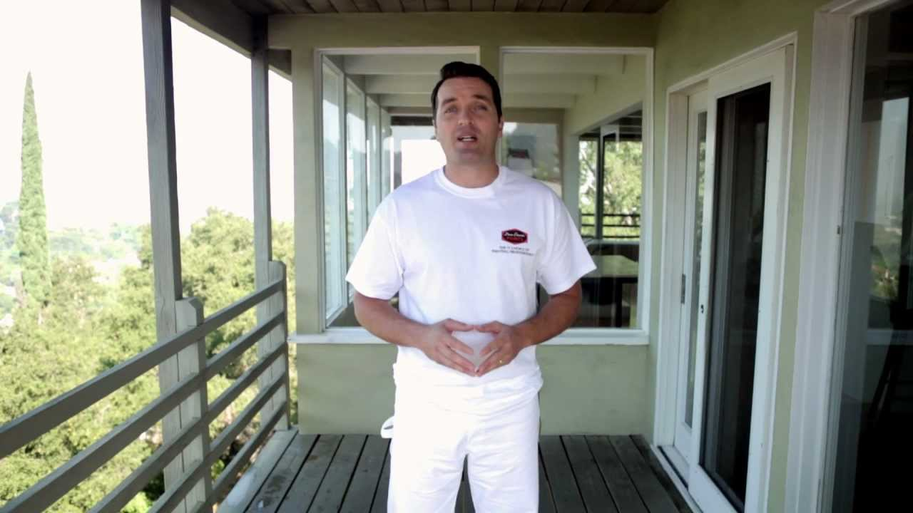 how to paint a wood deck youtube. Black Bedroom Furniture Sets. Home Design Ideas