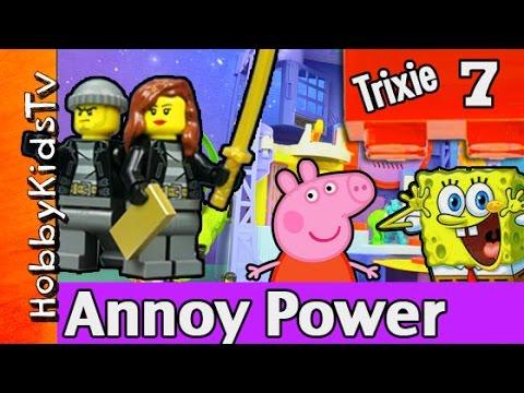 Time Wap Trixie 2 Batman Imaginext Spongebob Peppa Pig Monsters Inc by HobbyKidsTV