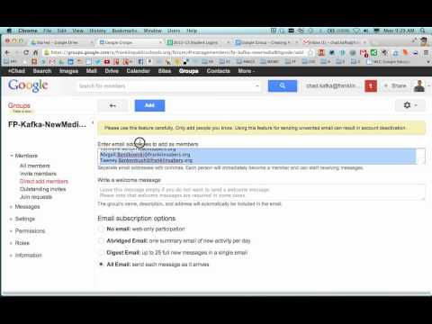 Google Groups - Making An Email List Group