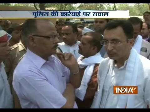 UP: Argument Between Congress Leader Jitin Prasada and Police - India TV