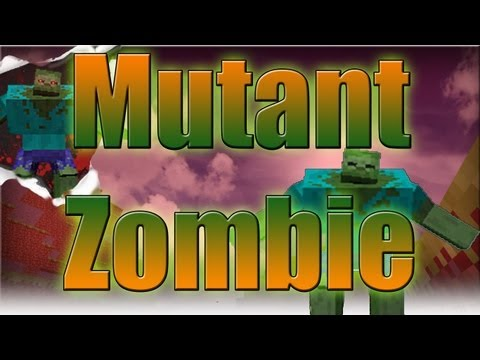 Minecraft Mods - Mutant Zombie 1.4.4 Review and Tutorial ( Late Video =P )